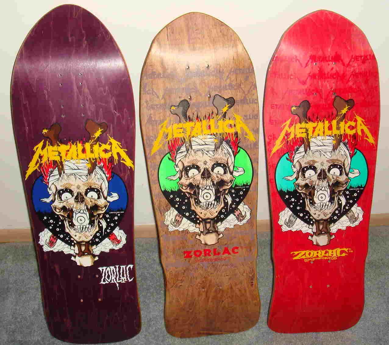 Os modelos da Zorlak em homenagem ao Metallica