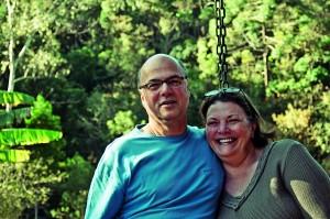 Carlos com a mulher, Eliana