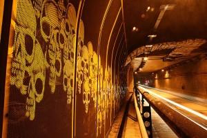 Vista do túnel Max Feffer