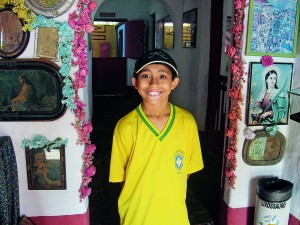Luís Gustavo Maropo, 10 anos, recepcionista mirim do museu da Fundação Casa Grande e frequentador do local