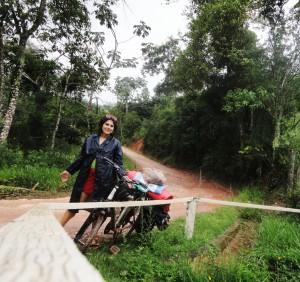 Renata e sua bike