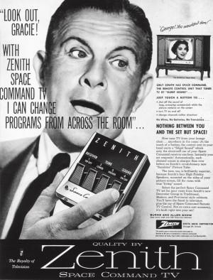 """A anúncio do Space Commander (""""nada além do espaço entre você e a TV"""")"""