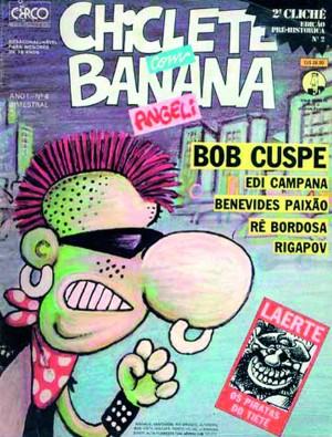 capa clássica da Chiclete com banana