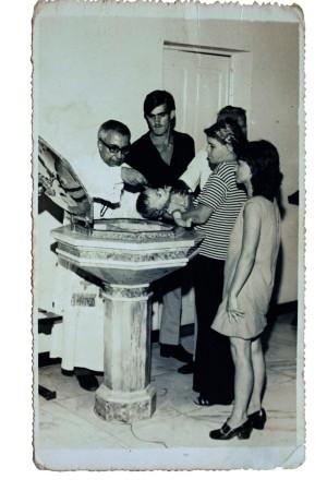 Durante seu batismo católico
