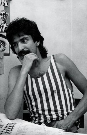 Magro, de mullet e bigode, 1983