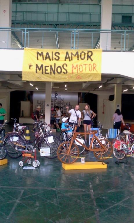 Exposição do 1º Forum Mundial da Bicicleta, que aconteceu em Porto Alegre