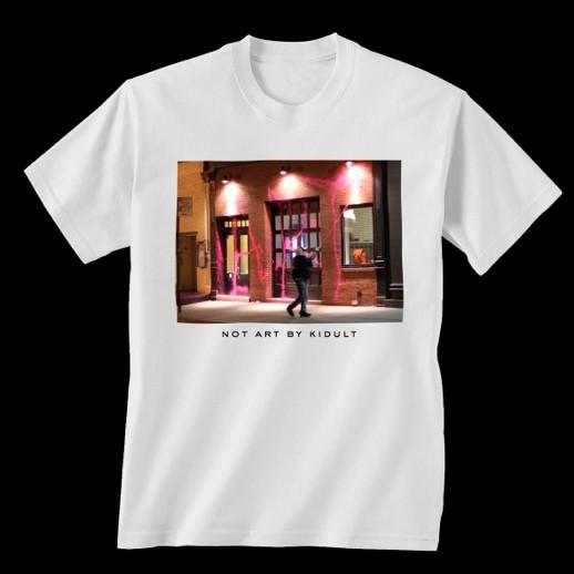 A versão de Kidult para a camiseta