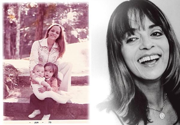 Glória com os filhos Daniella e Rodrigo, no Rio, começo dos anos 70; na pág. ao lado, na década seguinte, início de carreira de novelista