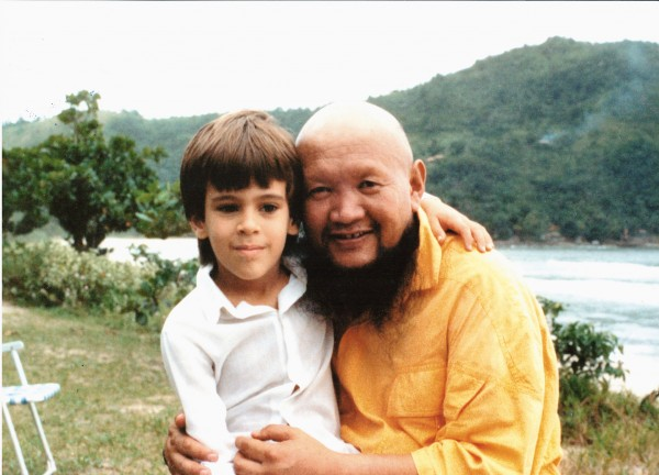 Lama Michel e o mestre lamaGangchen