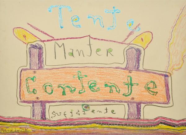 Poema e desenho de Arnaldo Baptista no seu Tumblr