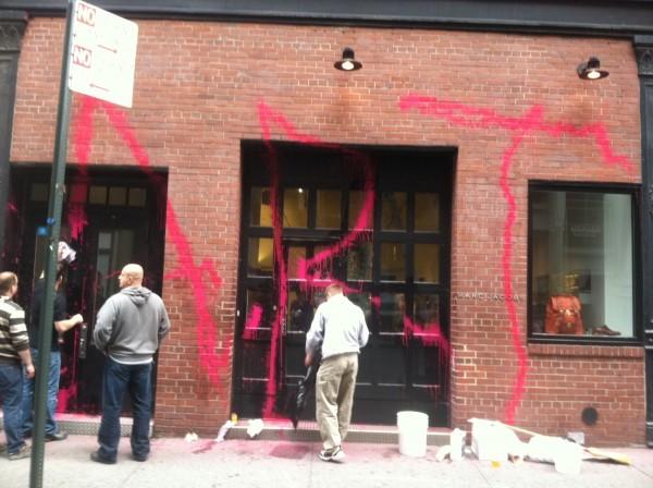 A fachada pixada da Marc Jacobs