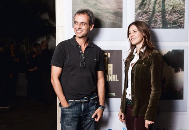 Estela e o sócio e produtor-executivo Marcos Nisti