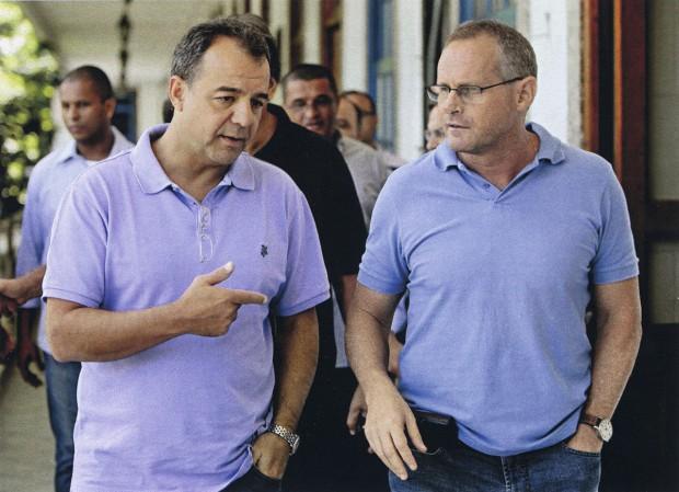 Com o governador Sergio cabral, que o convidou para assumir a Secretaria de Segurança Pública em 2006