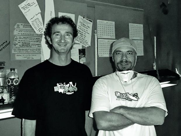 Com Mark Richards em sua oficina