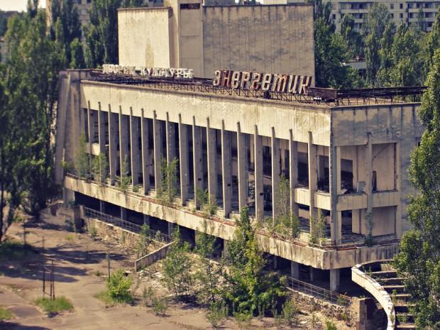 Conjunto comercial abandonado