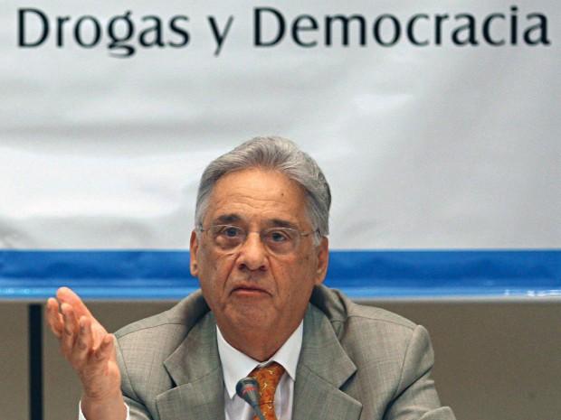 FHC participa de coletiva da Comissão Latinoamericana sobre Drogas e Democracia, no Rio de Janeiro, em 2009