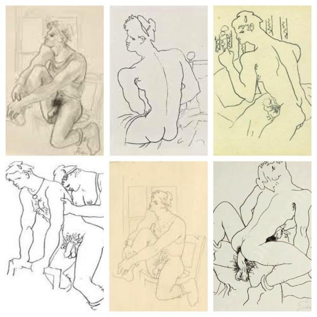 """Ilustrações de Jean Cocteau para """"Querelle de Brest"""" (1947), de Jean Genet"""