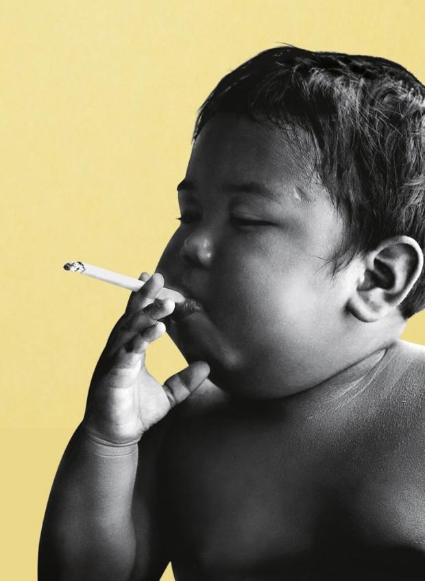 O bebê fumante