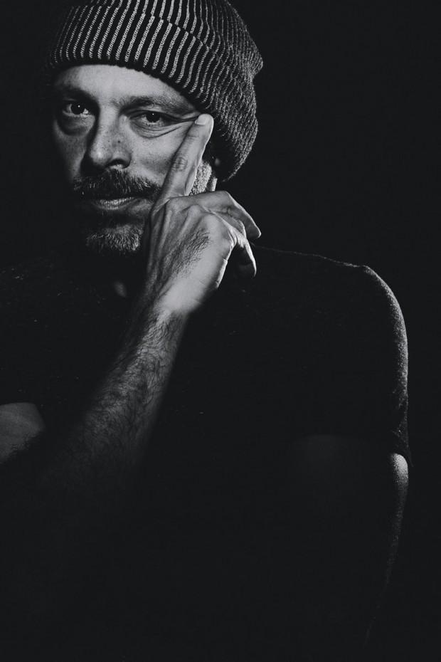 José Padilha durante a sessão de fotos para a Trip