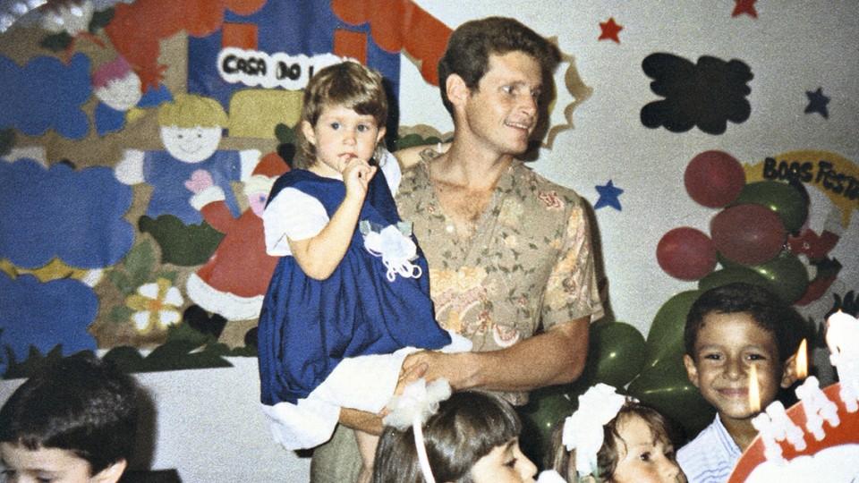 Com a filha, Mariana, de seu primeiro casamento