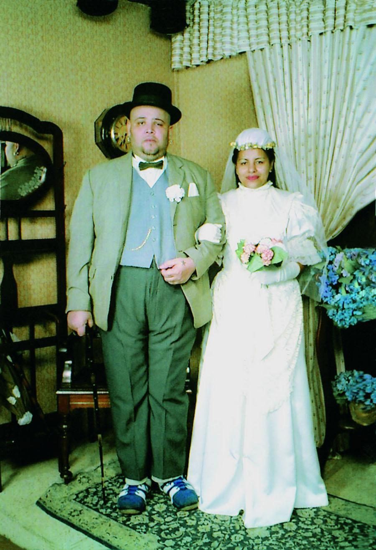 João Gordo e Vivi em casamento caipir