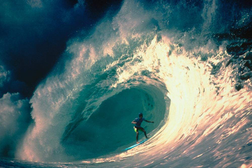 Tom Carroll no auge da carreira, no Havaí, em 1994