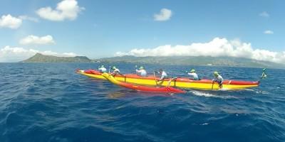 Feito inédito para canoa havaiana do Brasil