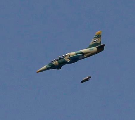 Bombardeiro das forças armadas sírias