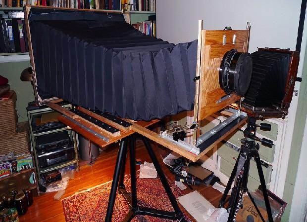 A câmera em construção