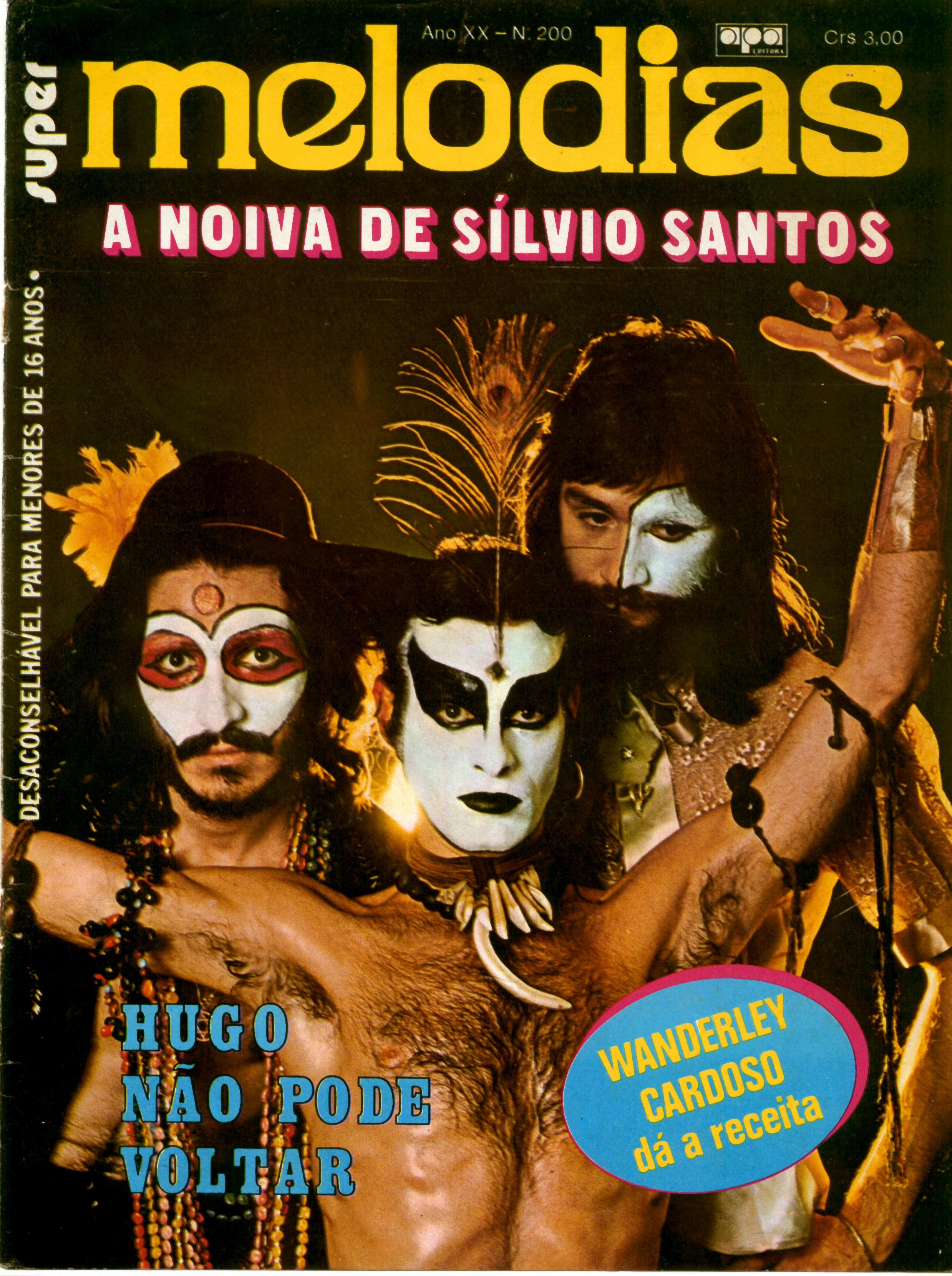 """Revista """"Super Melodias"""" com Secos & Molhados na capa"""