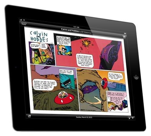 O aplicativo da GoComics para iPad