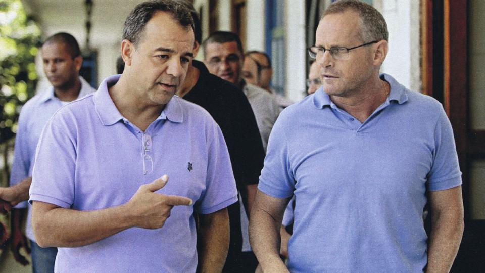 Com Sergio Cabral, que o convidou para assumir a Secretaria de Segurança Pública em 2006