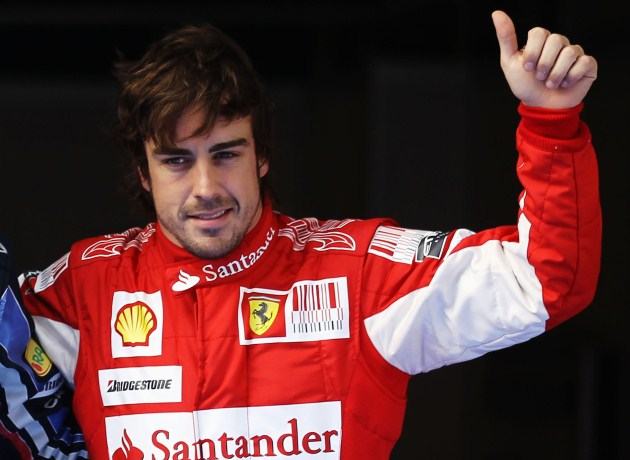 O piloto Fernando Alonso segurou os polegares em US$ 13 milhões