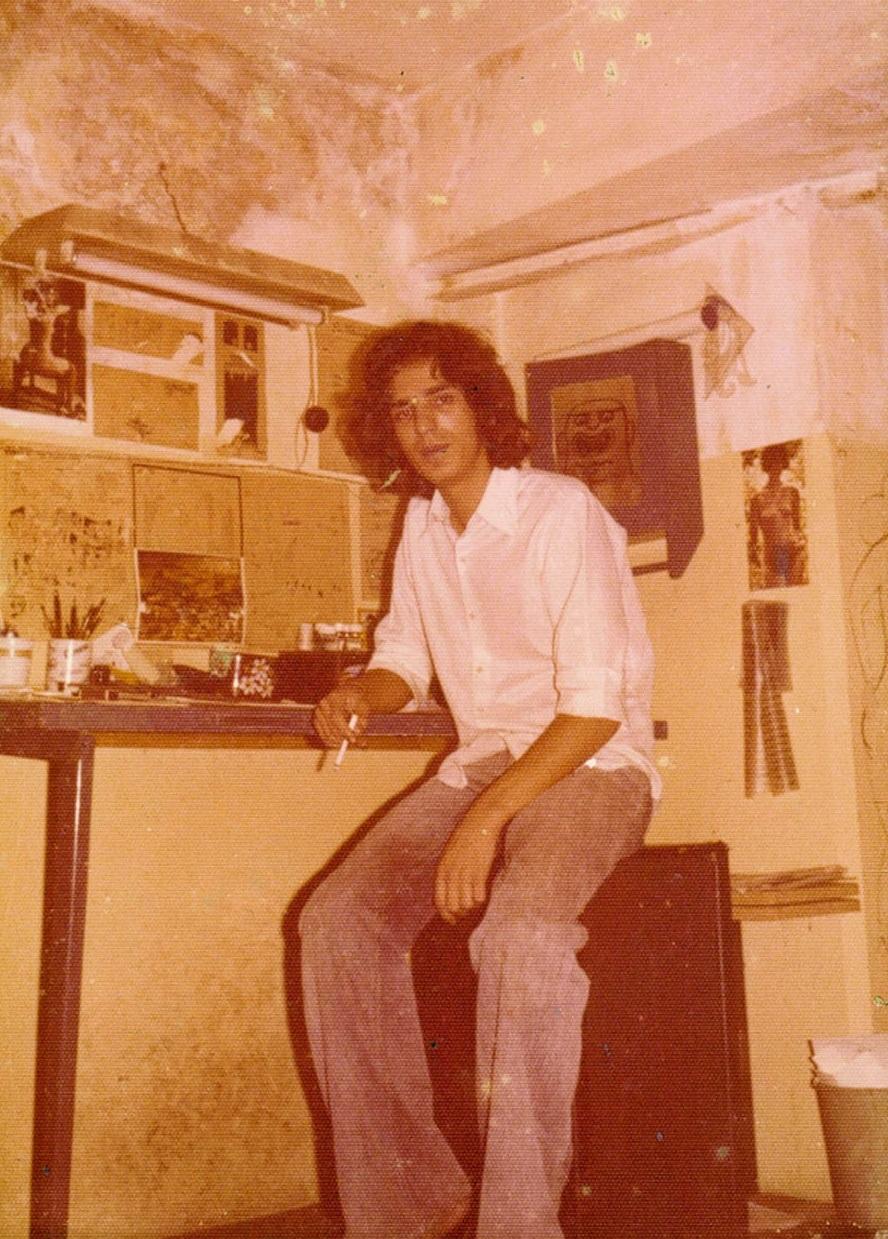 no primeiro estúdio, numa garagem da Casa Verde, em 1973