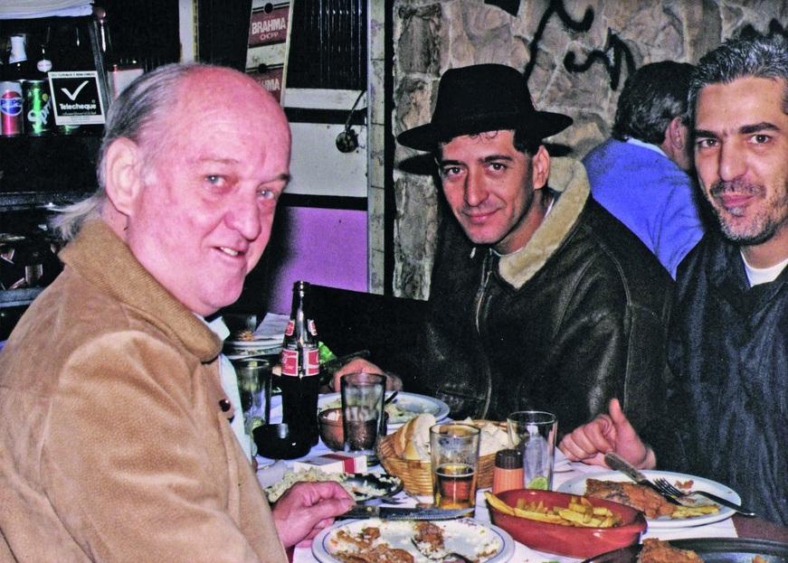 Com Jaguar e Glauco, no restaurante paulistano Pé pra Fora