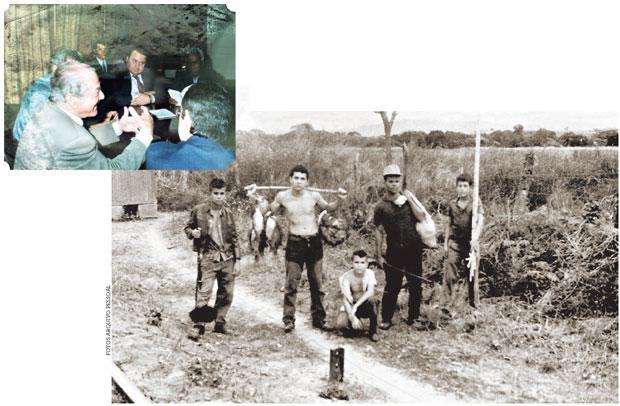 Antônio Carlos encontra-se com o então governador do Rio Leonel Brizola; e posa orgulhoso com o resultado de uma pescaria sobre seus ombros