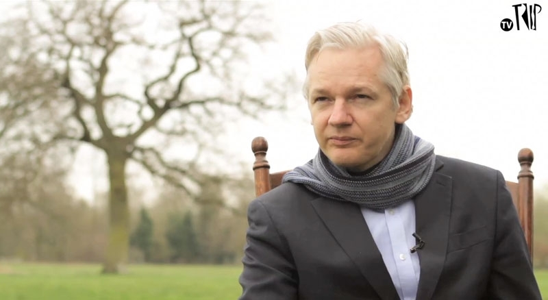 Julian Assange na TV Trip