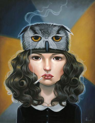 Audrey Pongracz - Art Student Owl