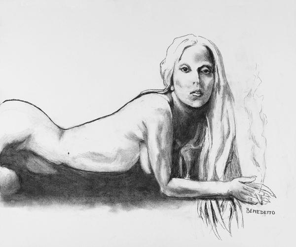 Tony Bennett - O grande crooner da música americana pinta há mais de 20 anos e já registrou a nudez de Lady Gaga em uma série de desenhos. Um deles você vê acima
