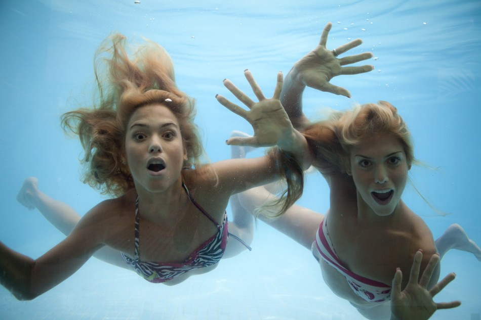 Bia e Branca Feres, as gêmeas do nado sincronizado