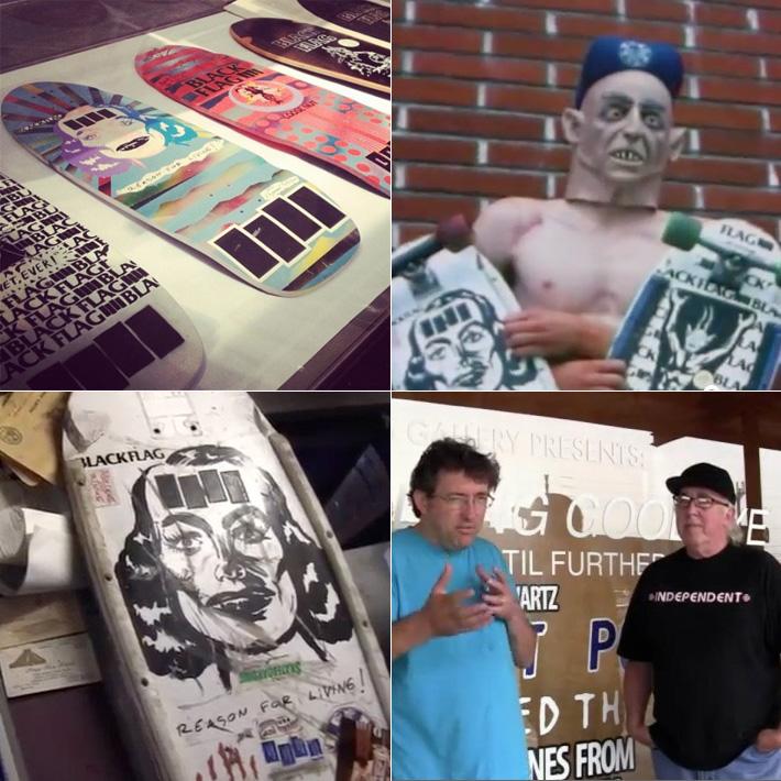Os muitos decks do Black Flag feitos pela Rip City em 1984