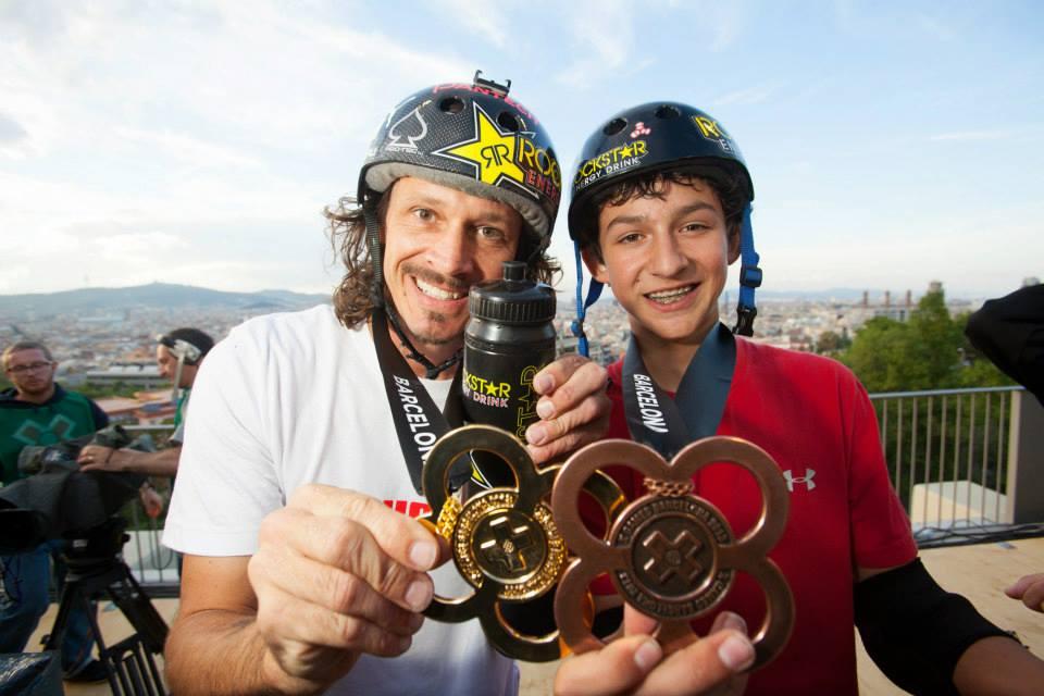 Bucky Lasek e Mitch Brusco com as medalhas