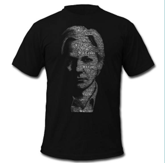 Até o Assange virou estampa de camiseta, quem diria