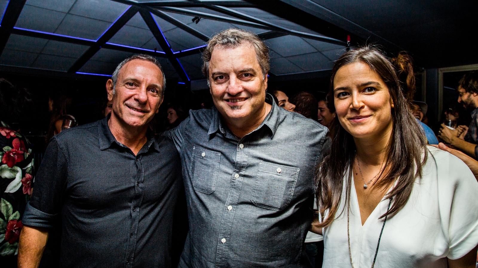 Carlos Sarli, Paulo Lima e Jéssica de Silva