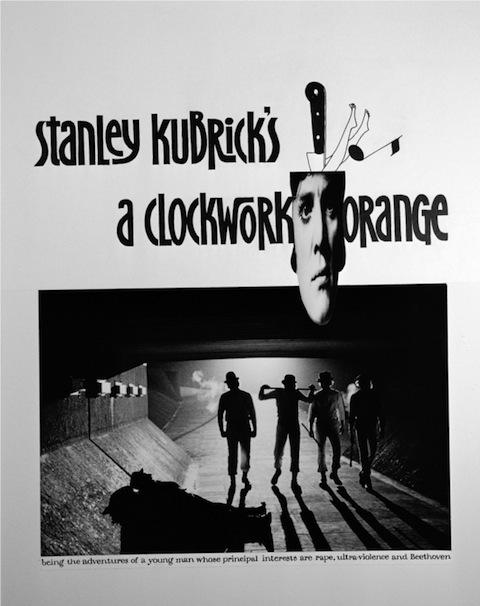 Poster rejeitado de Laranja Mecânica (1971)