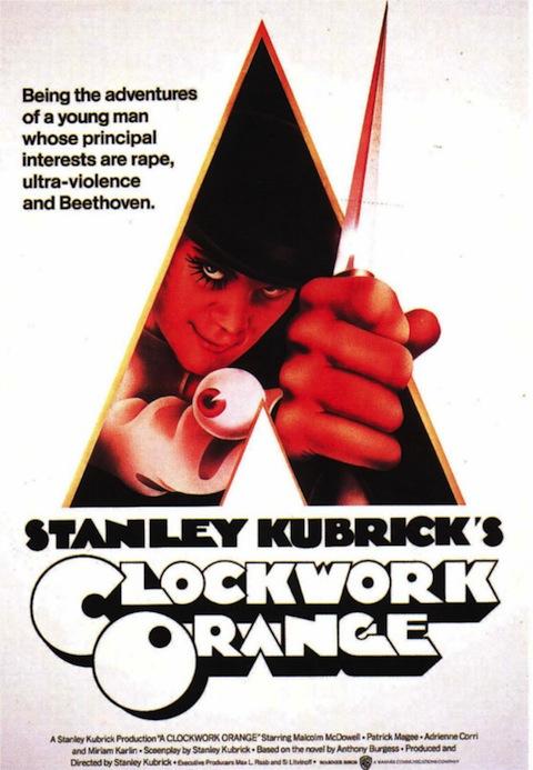 Poster oficial de Laranja Mecânica (1971)