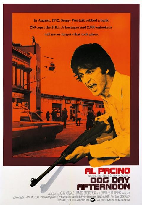 Poster rejeitado de Um Dia de Cão (1975)
