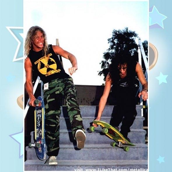 A falta de intimidade de James e Kirk, do Metallica, com os skates em homenagem à banda feitos pela  Zorlak