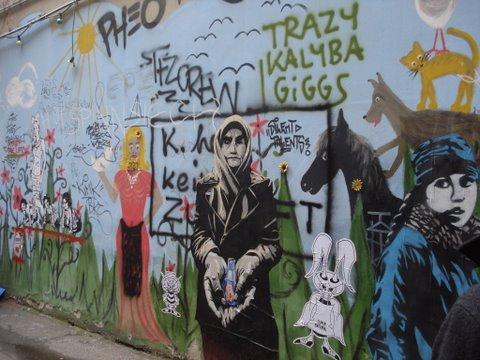 Graffiti nas ruas de Berlim
