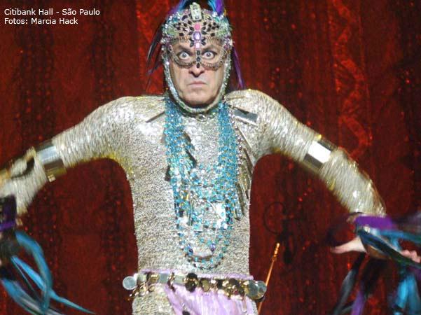 Ney Matogrosso no espetáculo Inclassificáveis